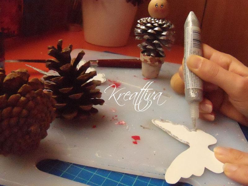 lavoretti creativo con pigne