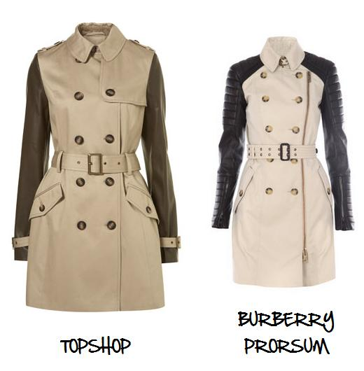 Clones 2011 trench Burberry Topshop