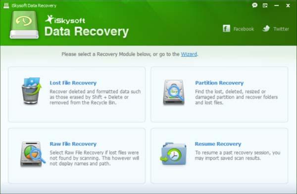 iSkysoft Data Recovery v5