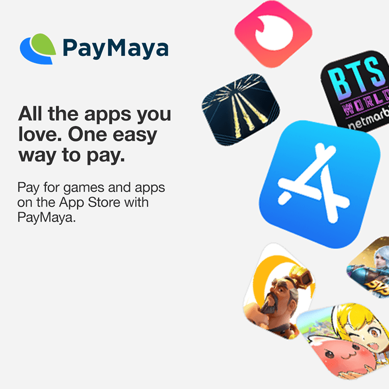 PayMaya now available for Apple services and App Store