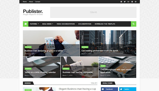 Publister Blogger Template
