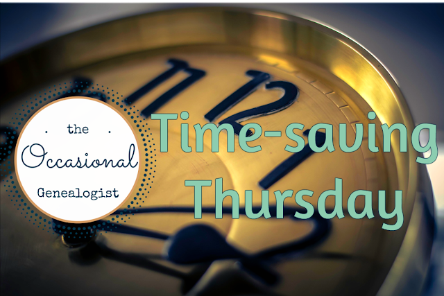Time-saving Tips for Occasional Genealogists