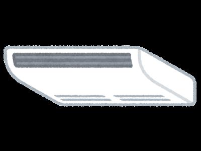 天井吊り型エアコンのイラスト