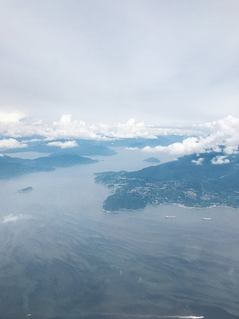 view of vancouver from plane