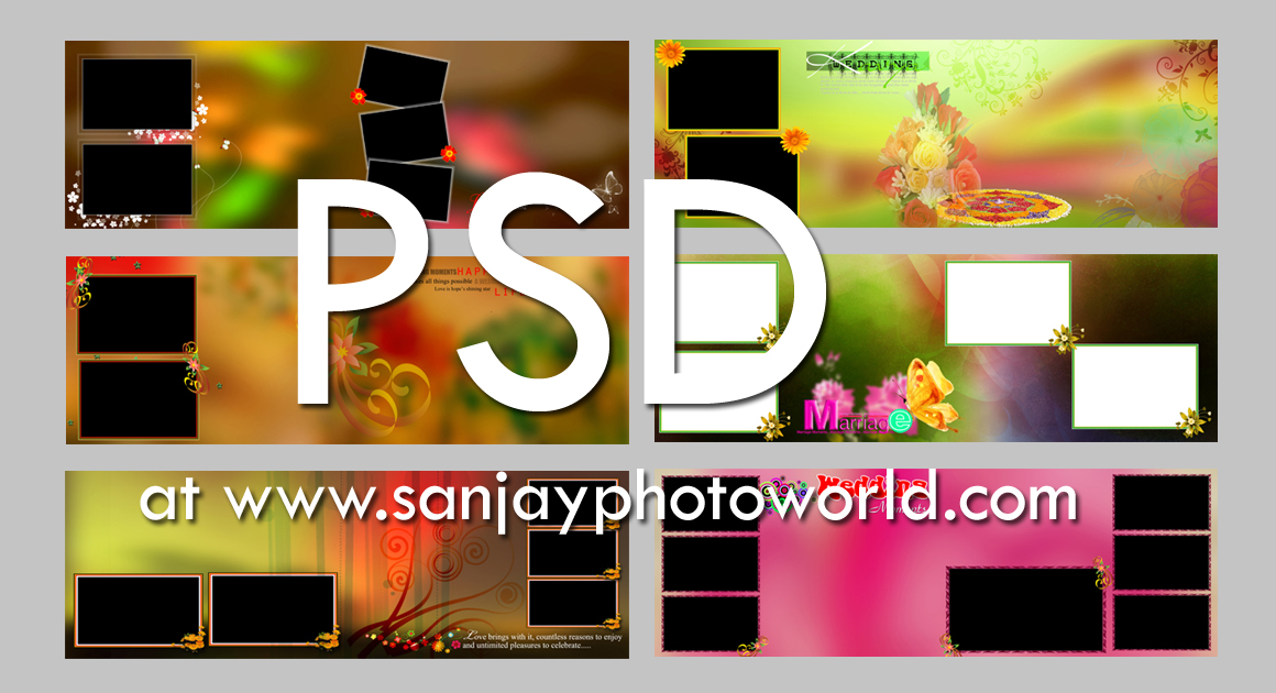 Sanjay Photo World Psd Karizma Wedding Album Designs Vol 08