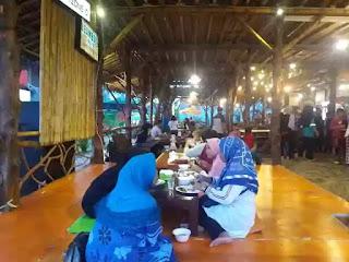 inside bamboo cafe pangandaran