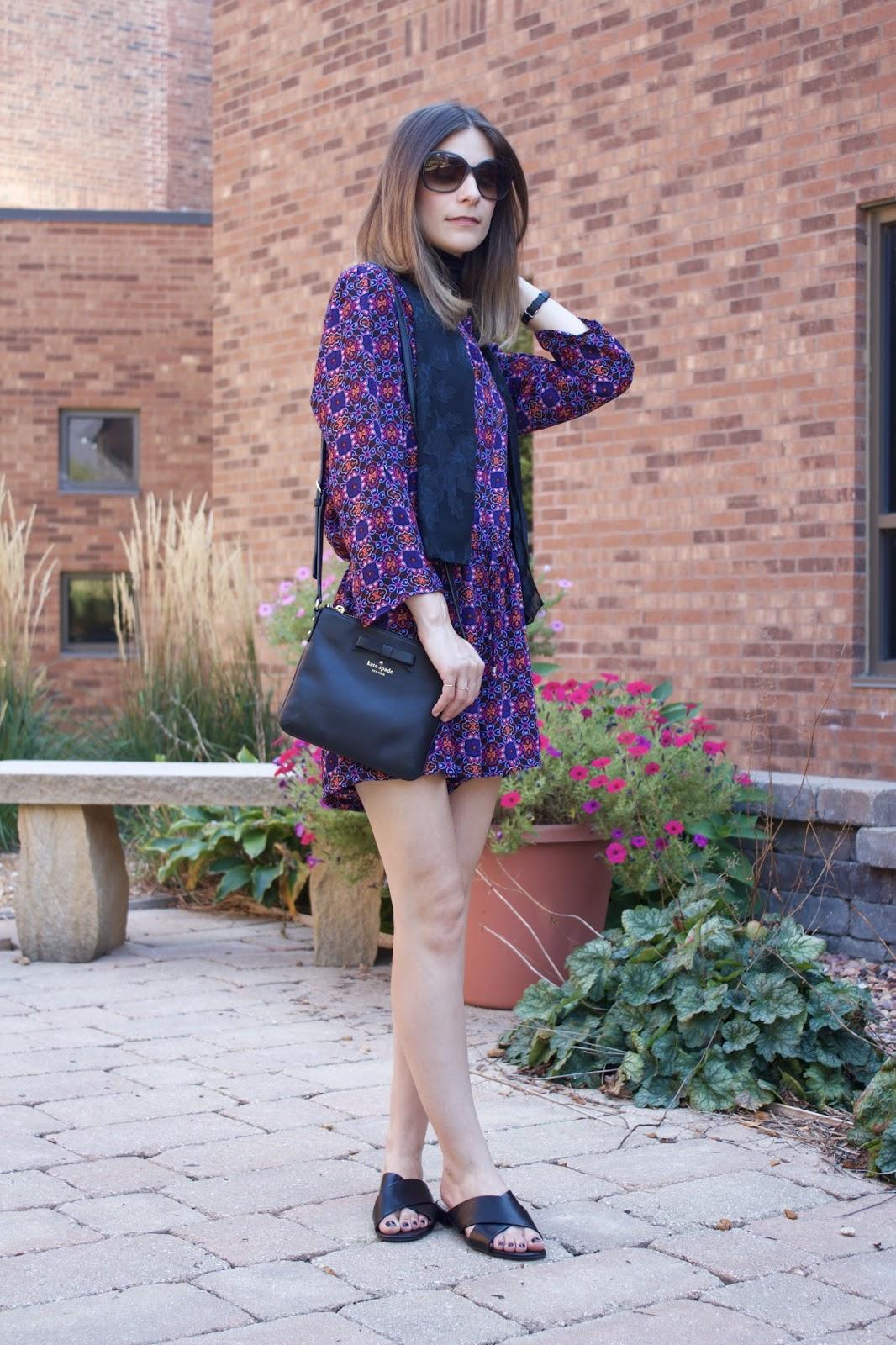 black leather Kate Spade cross-body purse