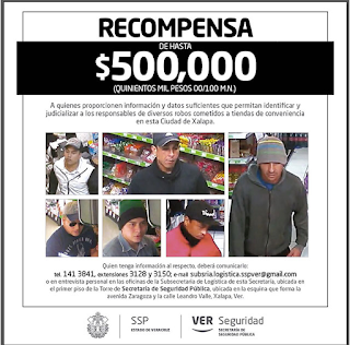 Recompensa de 500 mil a quien de informes de asaltantes de gasolineras en estado de Veracruz