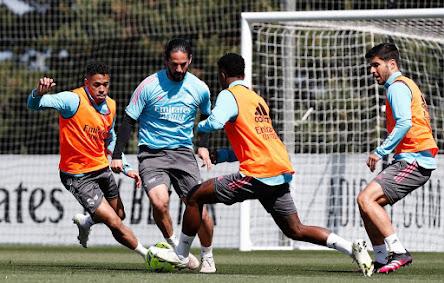 Ultimo entrenamiento antes de recibir al Granada en Liga