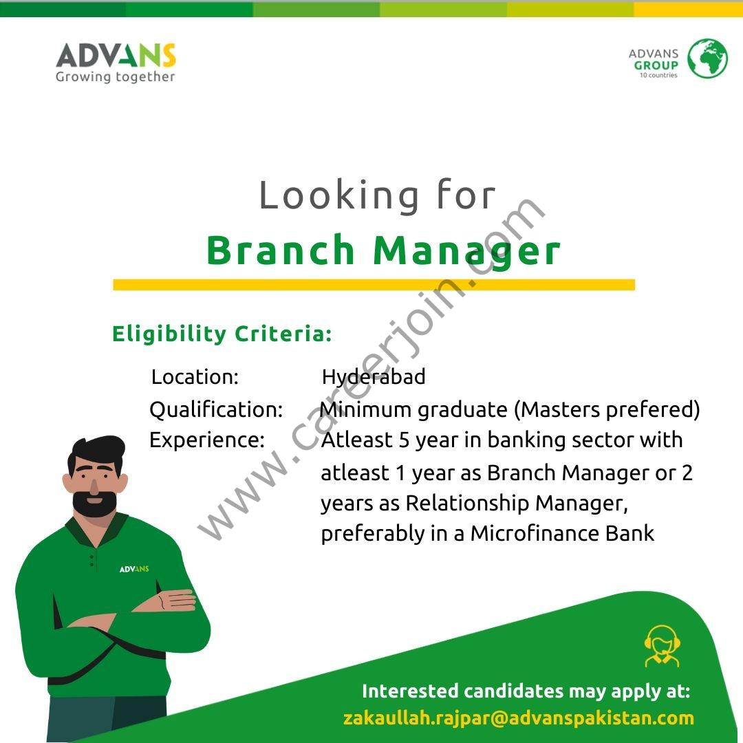 ADVANS Paksitan Microfinance Bank Ltd Jobs Sep 2021