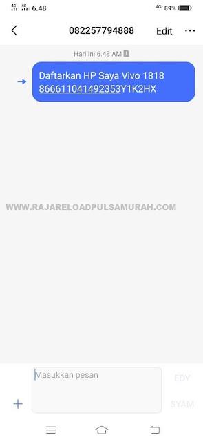 SMS Validasi Apk RJ Mobile Topup Raja Reload Pulsa