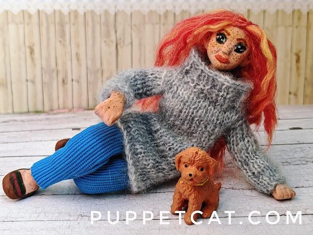 Как сделать куклу для кукольного домика