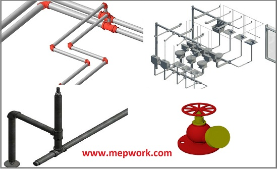 Revit MEP Families for Plumbing fixtures and pipes