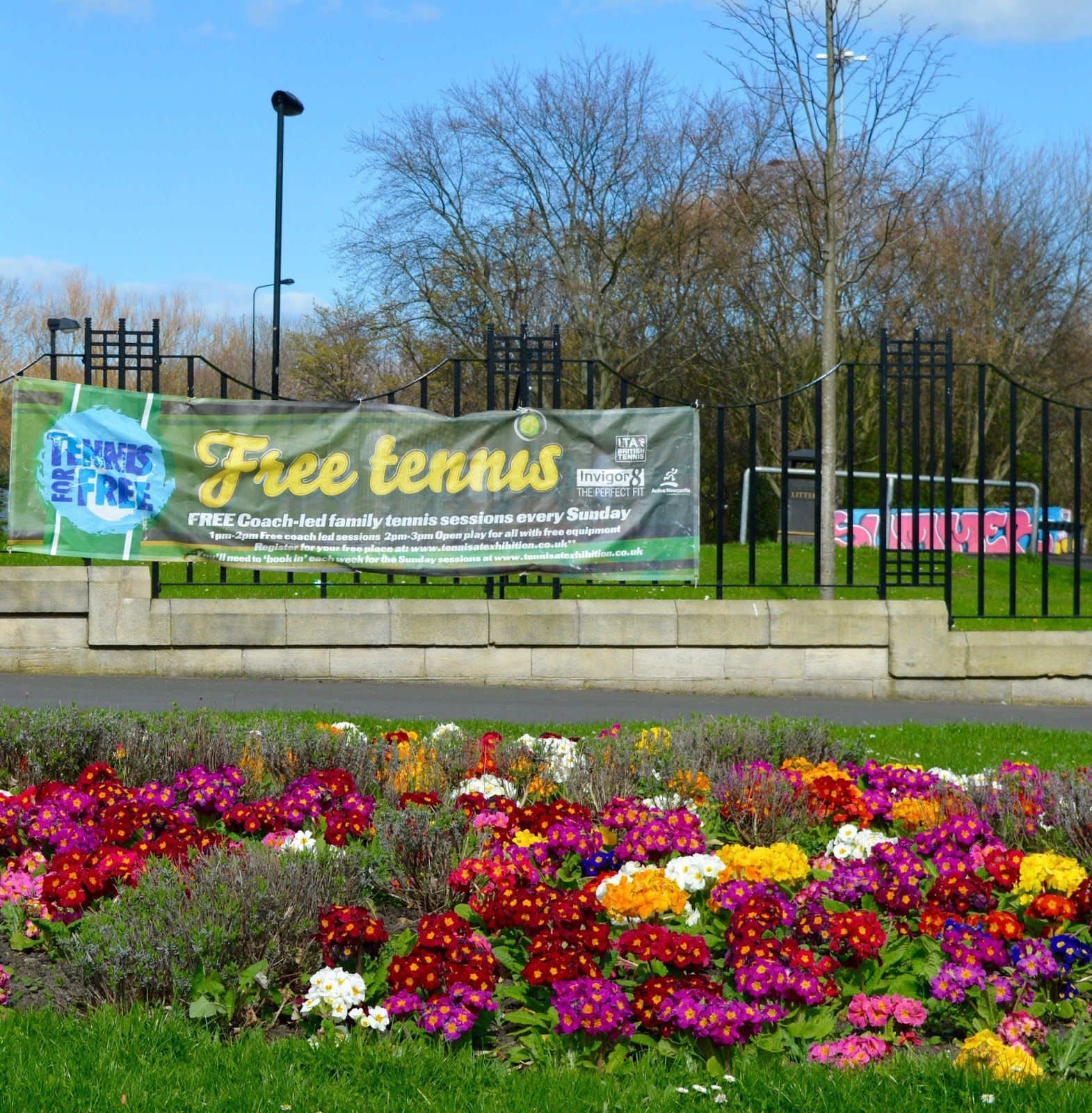 How to access free tennis sessions for kids across the North East this summer with LTA and #TennisForKids - free tennis at Exhibition park, Newcastle