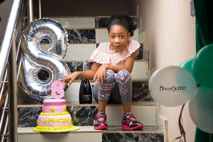 """CEO """"Tripple P Empire"""" Goshes Over Daughter """"Princess"""" As She Turns 8"""