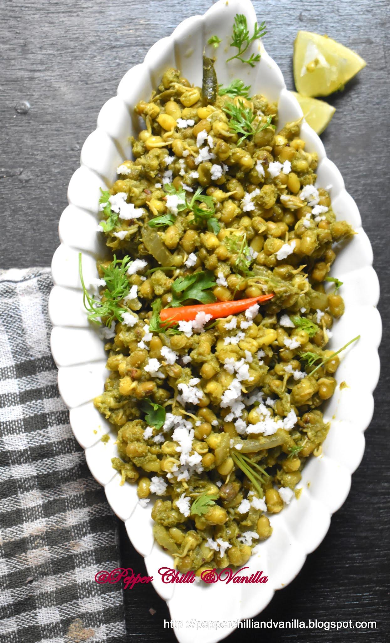 green masala mung ,coconut green masala moong