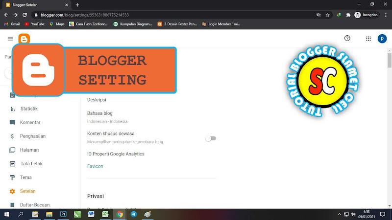 seting blog di blogger