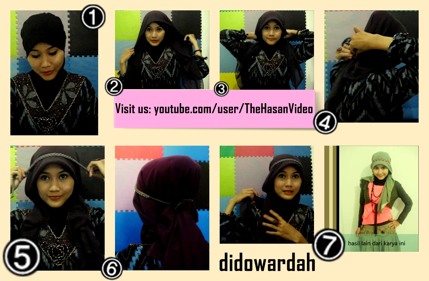 Tutorial Jilbab Untuk Hijaber Indonesia Model Jilbab Untuk Wajah