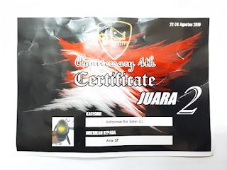 Idocrase Bio Solar Super IDC015 Big Size Juara 2 Pekanbaru Gemslovers Anniversary 4th