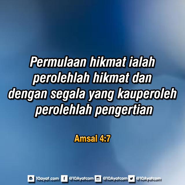 Amsal 4:7