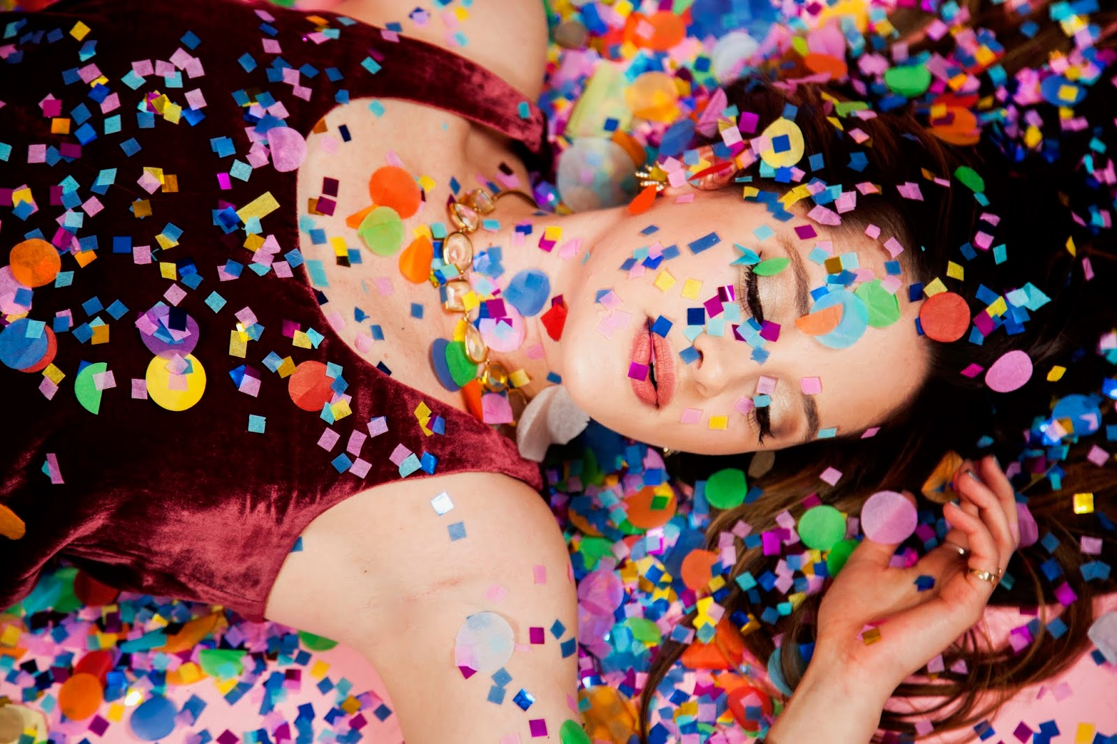 Nyc fashion blogger Kathleen Harper's confetti project pics by Jelena Aleksich
