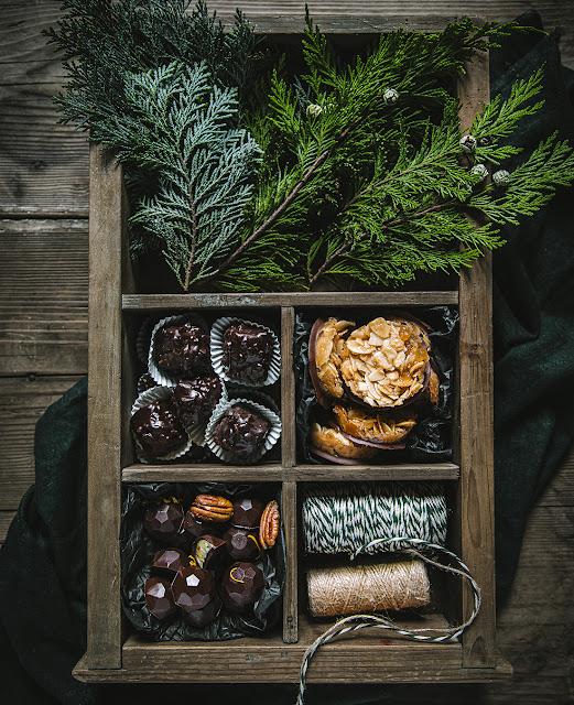 Recette de Noël Vegan : chocolats & florentins