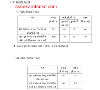 gujarat police constable pet syllabus