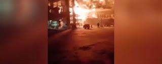 بالفيديو : اللحظات الأولية لاستهداف 3 منشآت للنفط والغاز في سوريا