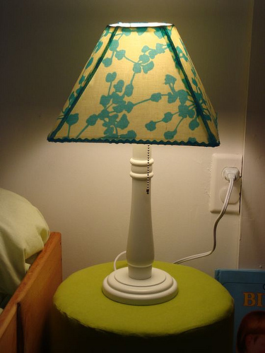 Amy Butler and a lamp revamp - Mod Podge Rocks