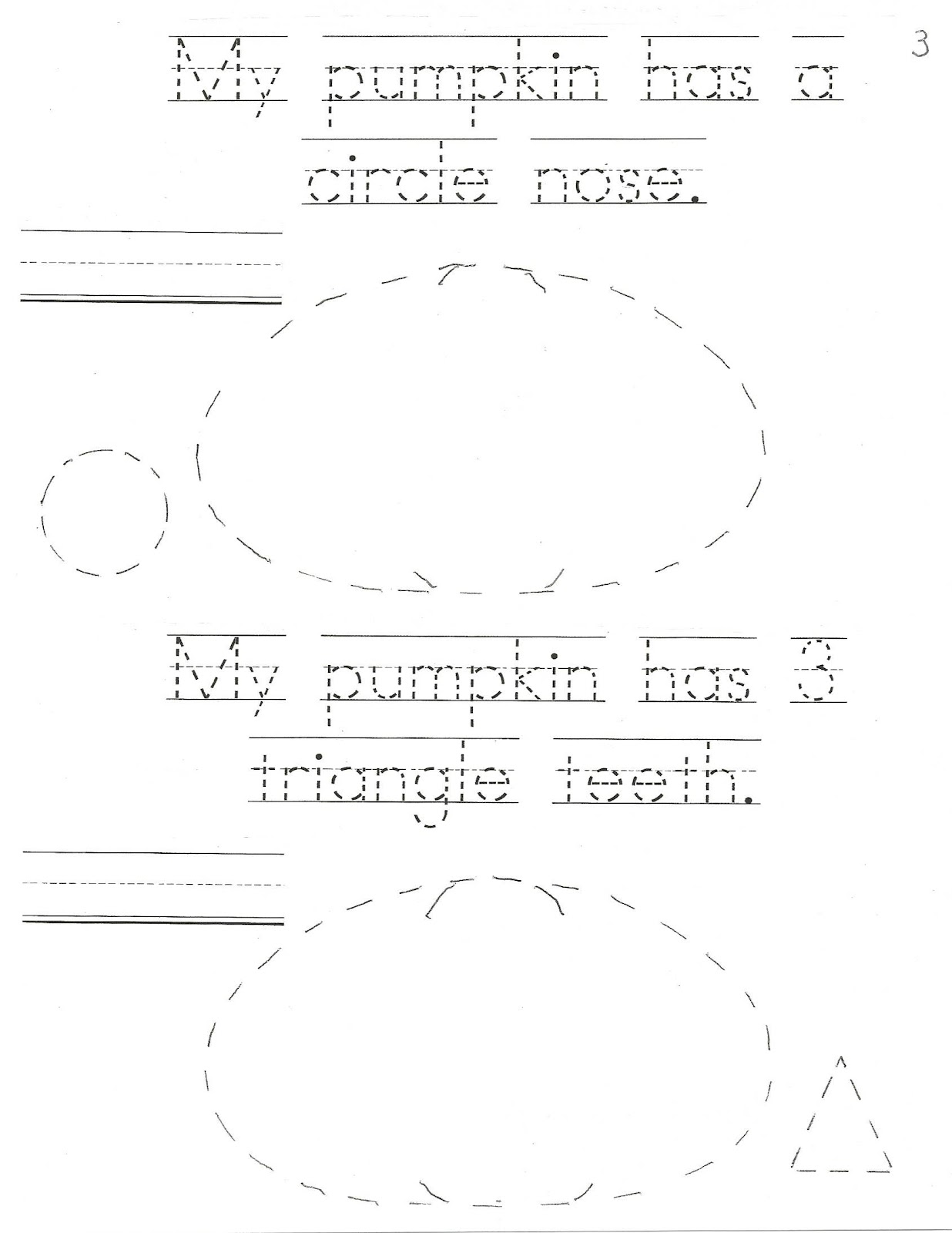 My Pumpkin Shape Booklet Easy Reader