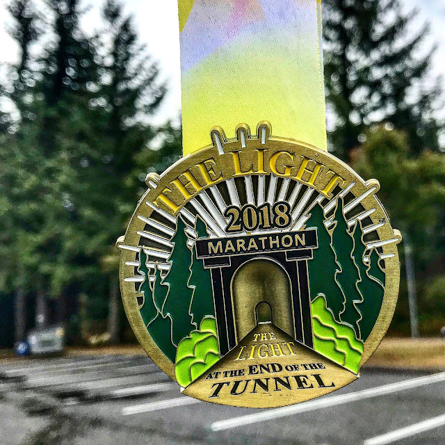 Tunnel Light Marathon Medal 2018