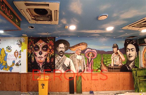 Mural restaurante mejicano