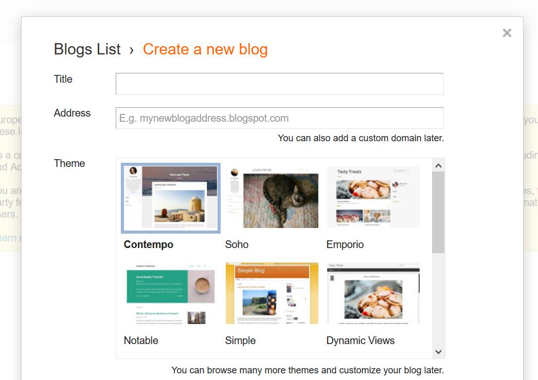 Membuat Blogspot Pertama