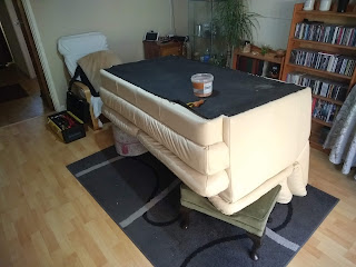 Upside-down sofa