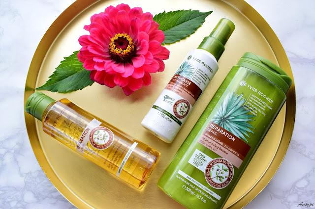 Odbudowująca seria kosmetyków z olejem jojoba i agawą do pielęgnacji włosów Yves Rocher