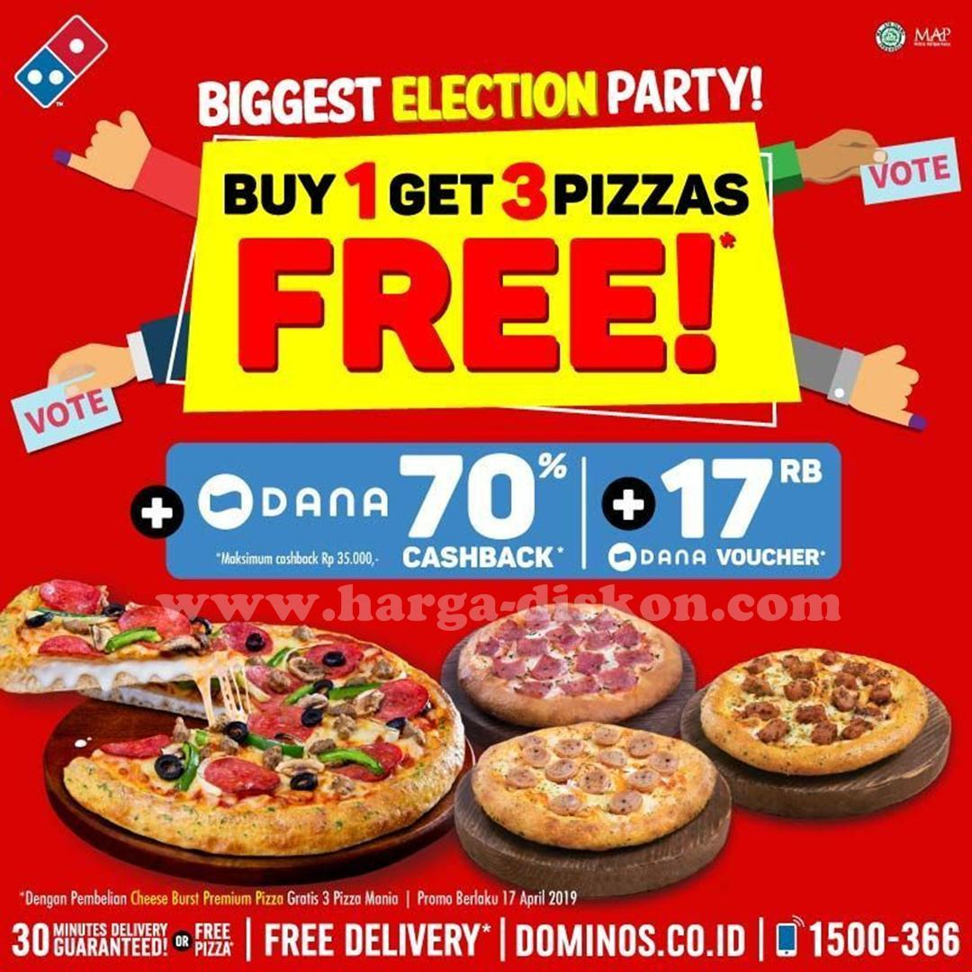 Promo Dominos Pizza Buy 1 Get 3 Pizza Free Periode 17 April 2019 News And Talking