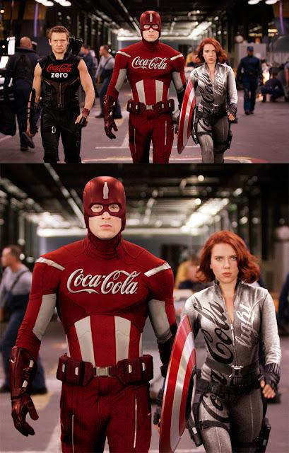 E se os super-heróis fossem patrocinados por grandes marcas? (Imagem: Reprodução/Internet)