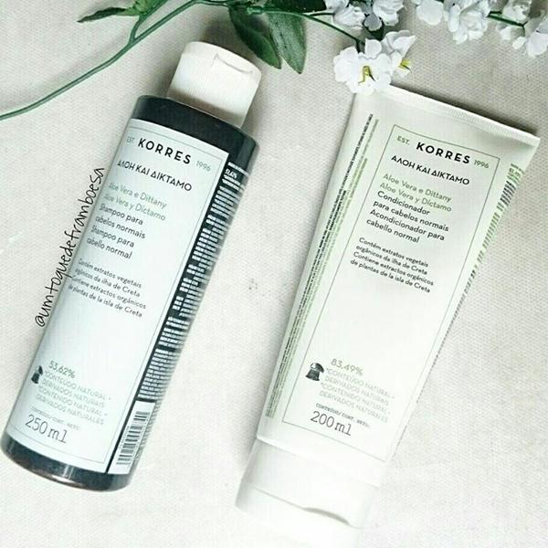 Resenha do shampoo e condicionador KORRES Aloe Vera e Díctamo
