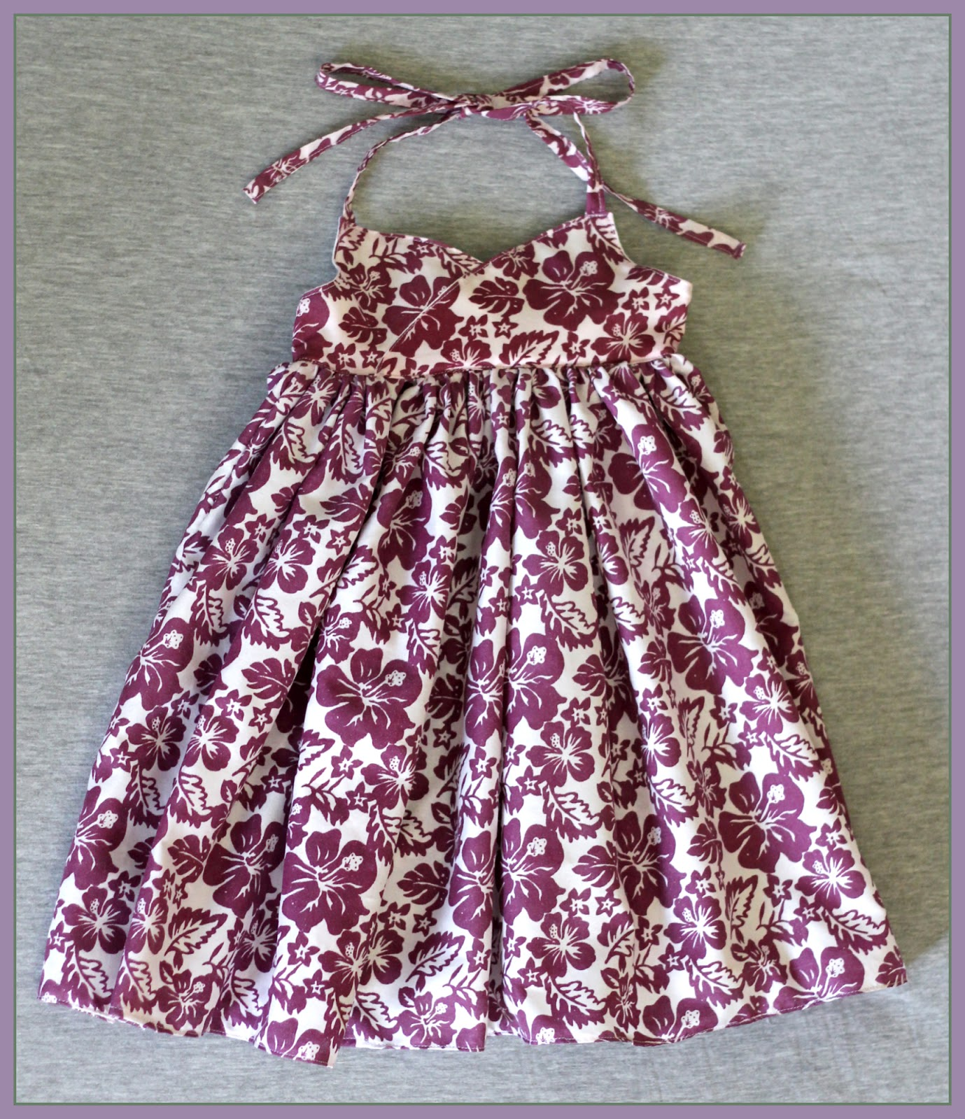 Peaches And Bees Hawaiian Halter Dress For Little Momo