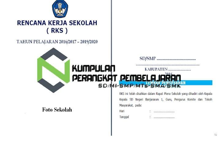 Contoh Rencana Kerja Sekolah (RKS) SD SMP SMA SMK Terbaru