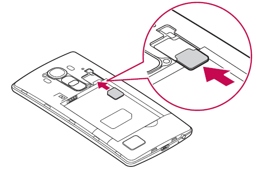 inserimento scheda sim lg g4 (micro)