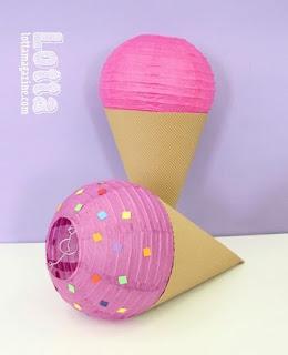 lanterne a forma di gelato