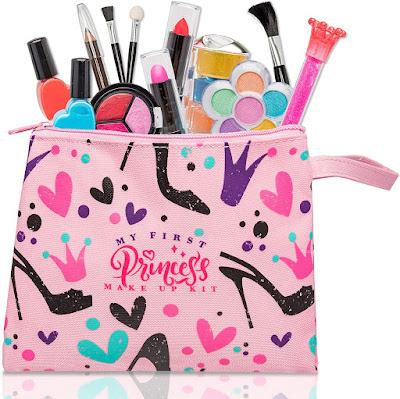 FoxPrint My First Princess Make Up Kit - 12 Pc Kids Makeup Set Washable Makeup For Girls
