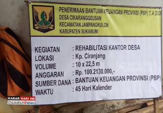 Rehab pembangunan Desa Cikaranggeusan Jampang Kulon