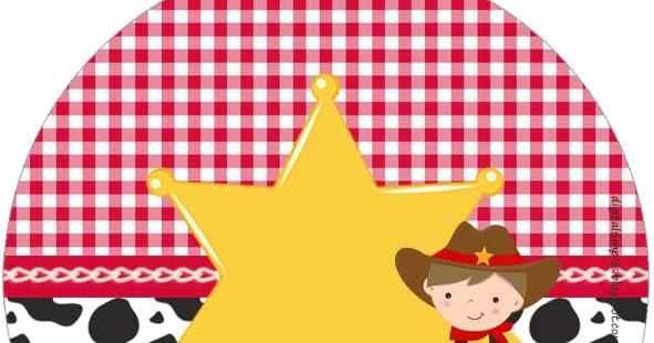 Cowboy O Vaquerito Wrappers Y Toppers Para Cupcakes Para