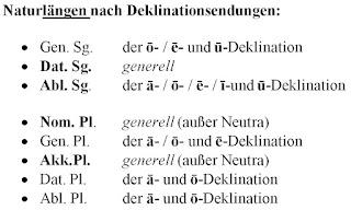Vokalquantitäten im Lateinischen: Deklinationen