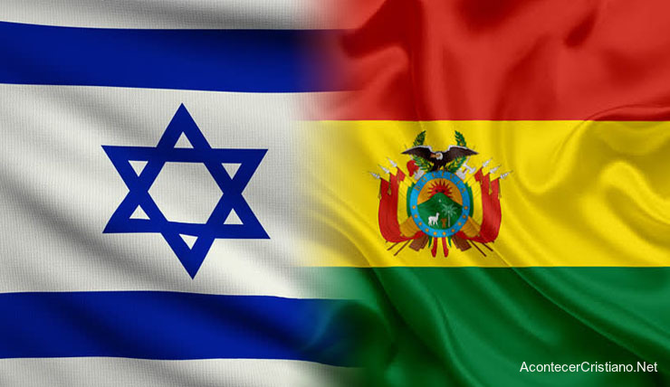 Banderas de Israel y Bolivia