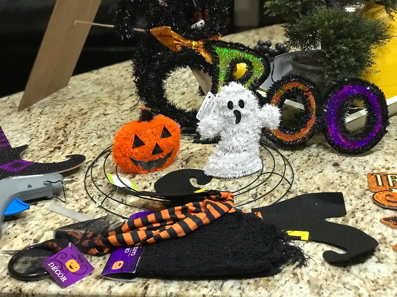 Image: Halloween Decorations that will be used for outside decorations