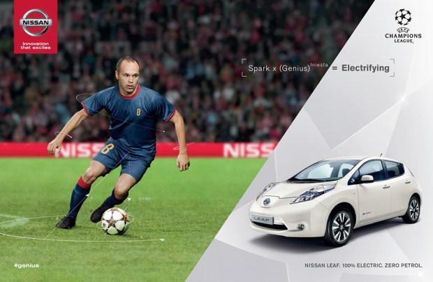 Nissan e Iniesta activan el regreso de la Champions