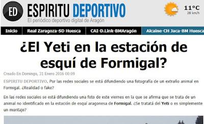 Portada Espíritu Deportivo Yeti Formigal